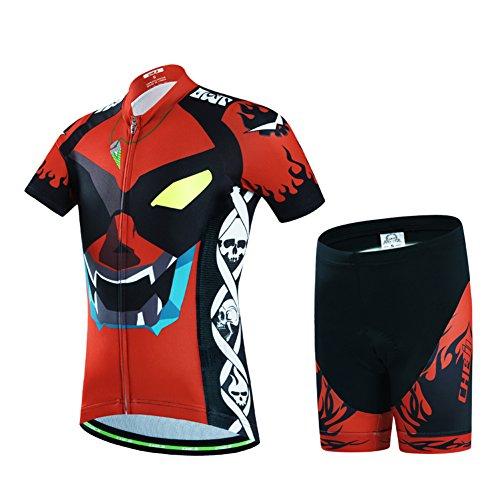 LSERVER-Niños Maillot Bicicleta Ropa Ciclo Camiseta/Pantalones/Conjunto