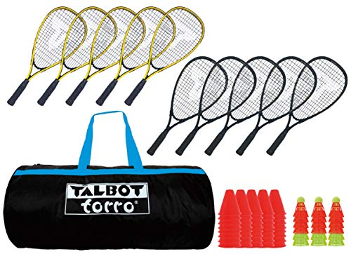 Talbot Torro Speed Badminton Set im Sportsbag Schulset für 10 Spieler