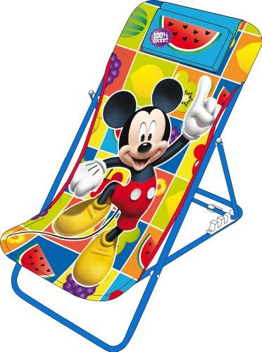 Arditex–wd7868–Haus-Garten–Sessel von Garten/Strand verstellbar–Mickey Mouse–44x 66x 61cm (Strand Häuser)