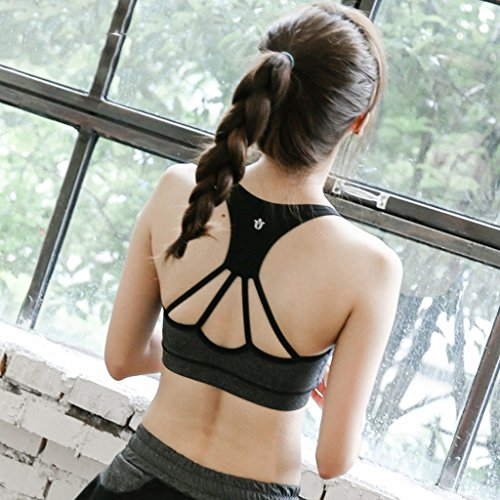 ny Mode Sexy Soutien-gorge Bra Choc Running Fitness Sans sous-vêtements en acier Gray