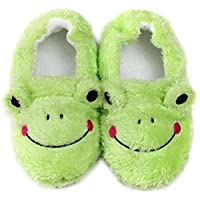 unlockgift Toddler Girls Boys Frog Slippers Winter Warm Cotton Slippers House Shoes Soft Bedroom Slippers
