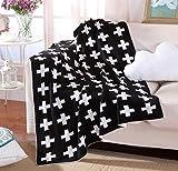 Elaiya Neugeborenes Baby Stricken Decke für Kinder Baby Jungen Mädchen / Babydecke / Kuscheldecke / Strickdecke 100 % Bio Baumwolle 90 x 110 cm