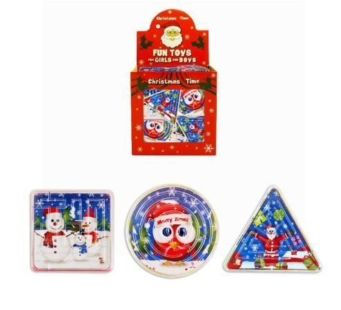 6 Christmas Maze Puzzles - Party Bags or Stocking Filler