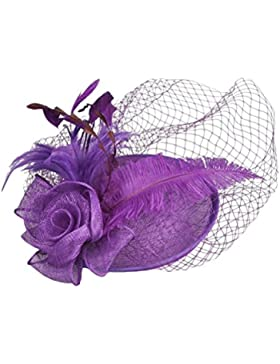 Zhuhaitf High Quality Hermosos accesorios para el cabello Hair Accessories Handmade Hemp Hats Linen Banquet Bridal...