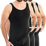 HERMKO 3007 3er Pack extralanges Herren Unterhemd (+10 cm) Tank Top aus 100% Baumwolle, Farbe:schwarz, Größe:D 12 = EU 6XL