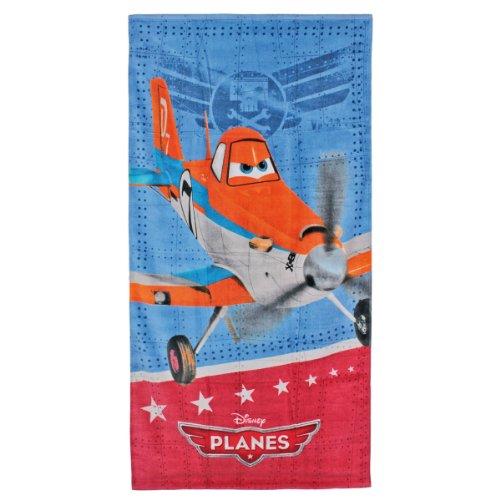 Planes - Kinder-Poncho mit dem Flugzeug Powder (Peppa Pig Kostüm Spiele)