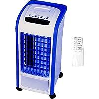 Rafraîchisseur d'air 4en 1 - Syntrox Germany - Bleu - Avec télécommande - 800m³/h - Ventilateur, humidificateur d'air et désodorisant