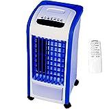 Syntrox Germany 4 in 1 Luftkühler Blau mit Fernbedienung 800m³/h Ventilator Luftbefeuchter und Lufterfrischer