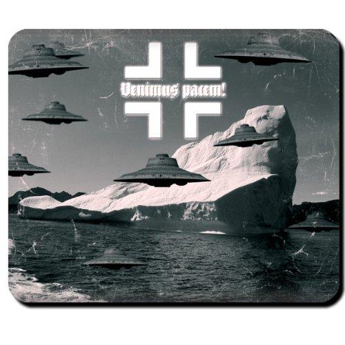 Haunebu Antarktis Flugscheibe Ufo Raumfahrzeug - Mauspad Mousepad Computer Laptop PC #4735