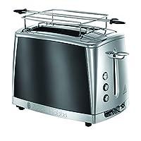 Russell Hobbs 23221-56 Luna İki Dilim Kapasiteli Ekmek Kızartma Makinesi, 1.5lt/12 fincan, Paslanmaz Çelik, Gri (Moonlight Grey)