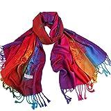 Novawo Women's Particular Rainbow Butterfly Print Scarf/ Shawl/ Wrap