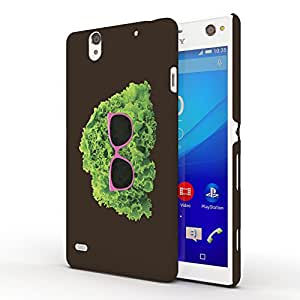 Koveru Designer Printed Protective Snap-On Durable Plastic Back Shell Case Cover for SONY XPERIA C4 - Mr. Cabbage