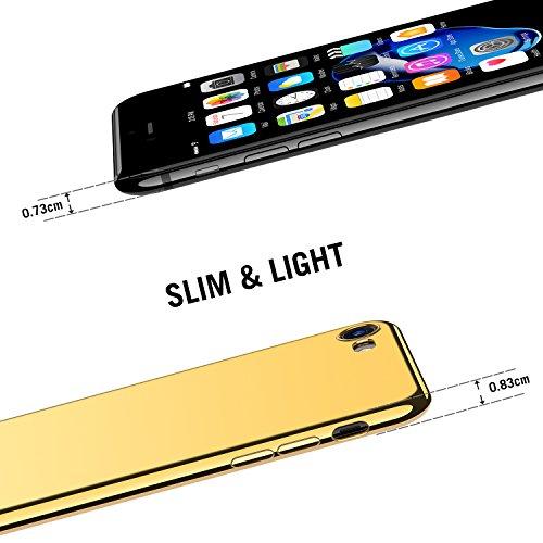 iPhone 7 Hülle, iPhone 8 Hülle, RANVOO Ultra Slim Soft TPU Case Extra Dünn Silikon Transparent Cover Durchsichtig Klar Hülle Weich Leicht Schutzhülle für Apple iPhone 7/8 (11,9 cm 4,7 Zoll)[Kabelloses All Gold