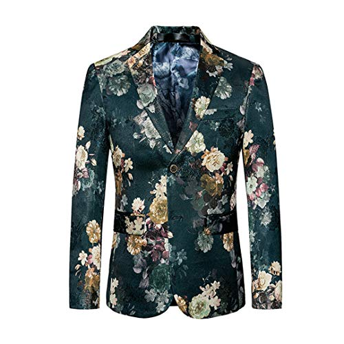 Luxus Männlichen Floral Vintage Mann Anzug Jacke Slim -