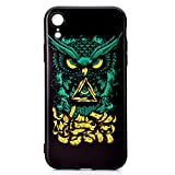 Coque iphone XR,Coffeetreehouse [Noir] Mince TPU Fantaisie Effet Relief Ultra Mince...