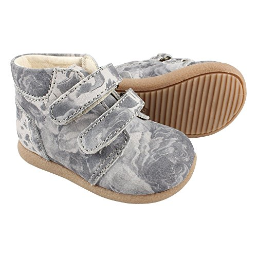 EN FANT Beginner Shoes Velcro, Chaussures Bateau Fille Gris - Grau (Medium Grey 53)