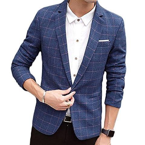 Zhuhaitf Premium Casual Men Slim Fit Suit Jackets Outerwear One Button Velvet Blazer Coats