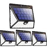 Solarleuchten für Außen, Luposwiten 82 LED Solarlampen mit Bewegungsmelder, 270° Weitwinkel Solar Beleuchtung, 2400 mAh Wasserdichte solarlicht für Garten, Wand, Fahrbahn, Einfahrt [1640LM, 4 Stück]