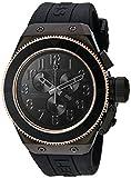 Swiss Legend Herren analog Schweizer Quarzwerk Uhr mit Silikon Armband 13845-BLK-RB