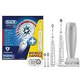 Oral-B PRO 6500 SmartSeries Elektrische Zahnbürste mit Bluetooth-Verbindung, mit 2. Handstück und SmartGuide, weiß