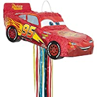 Unique Party 65981 Disney Cars Lightning Mcqueen Pinata with Pull String
