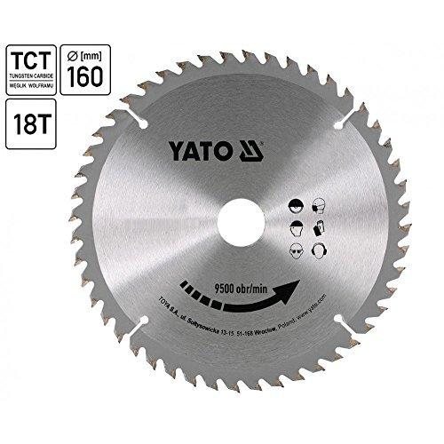Yato yt-6055-TCT Sägeblatt-Holz 160x 18x 20mm