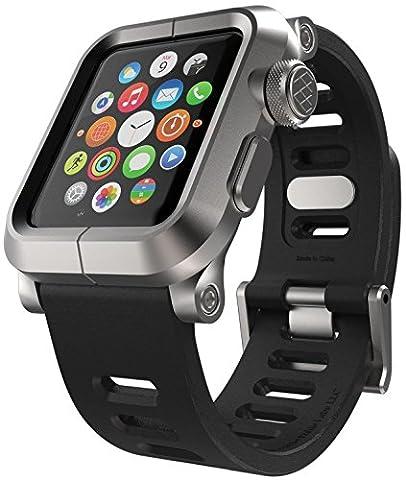 Lunatik EPIK Aluminium Apple Watch Case and Silicone Strap - Silver