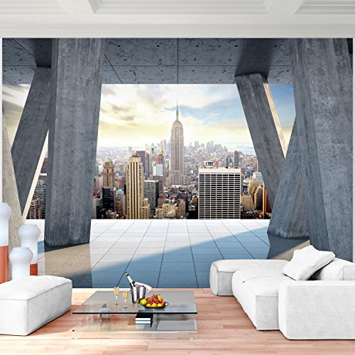 Fototapete New York Vlies Wand Tapete Wohnzimmer Schlafzimmer Büro Flur Dekoration Wandbilder XXL Moderne Wanddeko - 100% MADE IN GERMANY - NY Stadt City Runa Tapeten 9138010b (Ny Foto)