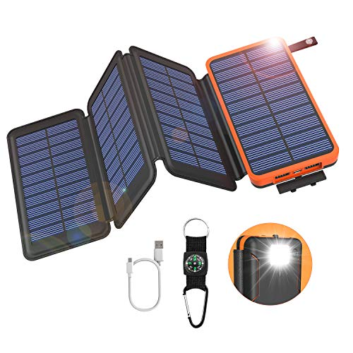 GOODaaa Solar Power Bank 25000mAh High Capacity
