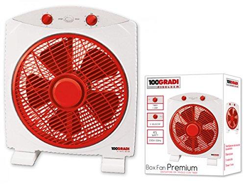 100Gradi Fiseldem F035Boxfan Premium Tisch Ventilator mit Timer