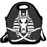 Anubis' Pirate Flag Egypt Lunch Tote Insulated Reusable Picnic Lunch Bags Boxes For Men Women Adults Kids Toddler Nurses