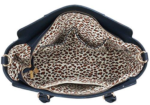 3b48b55d30160 ... LeahWard Damen Zweifarbige Shaped schönes Elegante Handtaschen Tote  Taschen Weiß Grau ...