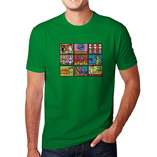 Planet Nerd - Star Art - Herren T-Shirt Grün