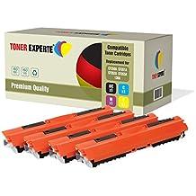Pack de 4 TONER EXPERTE® Compatibles 130A CF350A CF351A CF352A CF353A Cartuchos de Tóner Láser para HP Colour LaserJet Pro MFP M176N, M177FW