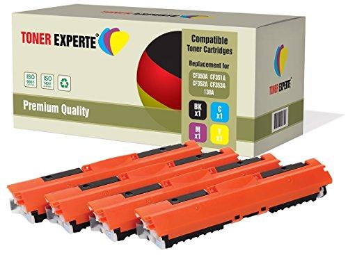 Kit 4 TONER EXPERTE® 130A CF350A CF351A CF352A CF353A Toner compatibili per HP Colour LaserJet Pro MFP M176N, M177FW
