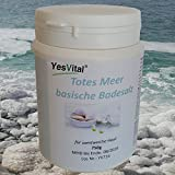 Wohlfühlbad Totes Meer Badesalz mit Bio Rosenblättern Basenbad ( BIO-de ÖKO-001 ), gut bei trockener und empfindlicher Haut. Enthält wertvolle Mineralien. Inhalt 750 Gramm