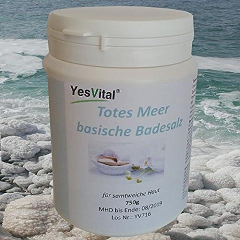 Wohlfühlbad Totes Meer Badesalz mit Bio Rosenblättern Basenbad ( BIO-de ÖKO-001 ), gut bei trockener und empfindlicher Haut. Enthält wertvolle Mineralien. Inhalt 750 (Meer Teelöffel)