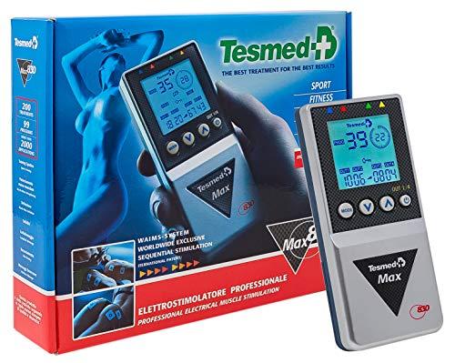 Tesmed MAX 830, Elettrostimolatore Muscolare Professionale con 20 elettrodi: massima potenza, addominali,...