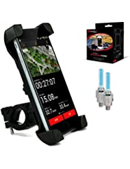 Universal-Rad-Handyhalter #1 Rad-Handyhalter | Rad-iPhone-Halter / iPhone 6-Halter fürs Rad | Rad-Handyhalter + GRATISGESCHENKE - 2x Reifen-LED-Licht – Sportrad-Geschenke, die Männer & Frauen lieben