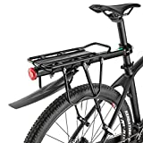 ROCKBROS Bagagerek Voor Mountainbikes Bagagerek Snelsluiting Met Spatborden en Reflector max. Laadvermogen 75kg 24-29 inch