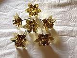 20 Stück Kerzenhalter Adventskranzkerzenstecker Kerzenstecker gold