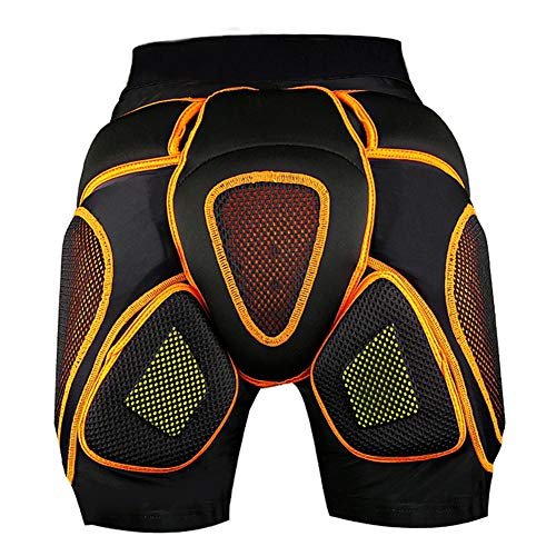 TZTED Schutzhose Protektorhosen 3D Gepolsterte Kompressions-Kurzschlüsse Schutzhose Hüftschutzhosen Protektor Hüfte Skifahren Roller Skate Sport,XL(75~105KG)