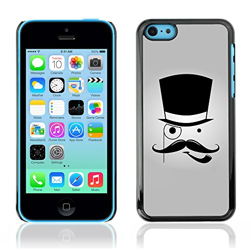 Graphic4You Mustache Schnurrbart Lustig Design Harte Hülle Case Tasche Schutzhülle für Apple iPhone 5C Design #7