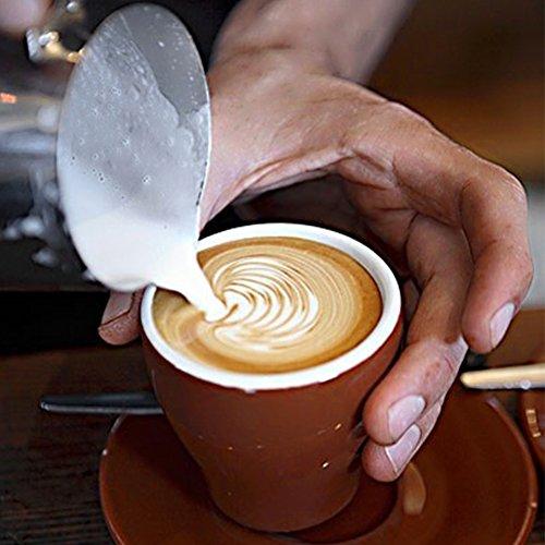 ufschäumer und Latte Maker Edelstahl Milchdüse Dämpfen Krug Girlande Tasse 350ml für Espresso Maschine (Stroh Tassen Für Kleinkinder)
