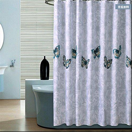Homjo Duschvorhang Schmetterling Duschvorhang Stil Luxus Gepolstert