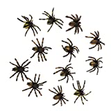 #3: Segolike Pack 12PCS PVC Simulated Spider Figure Fake Insect Model Childrens Toy-TypeB