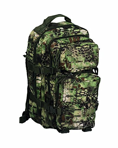 Mil-Tec US Assault Pack small Laser Cut mandra Wood