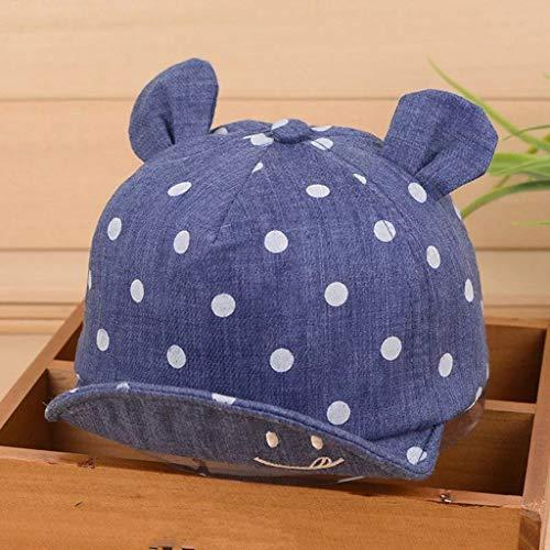 HLINSH Visier Baby Mädchen Junge Kleinkinder Niedlich Sommer Hut Spitze Lächelndes Gesicht Welle Punkt Kappe Sonne Hut-in Bekleidung Zubehör, DB
