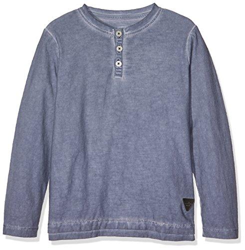 TOM TAILOR Kids Jungen T-Shirt overdyed slub henley 10369430082, Gr. 116, Blau (real navy blue1 6975) (Langarm-henley Jungen)