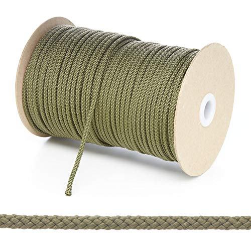 Olive Cord (Kalsi Cords Polypropylen-Seil, rund, geflochten, 4 mm, 8 Farben und 4 Längen Größen, Khaki Olive, 10 Metre Cut Length)